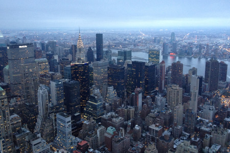 A beautiful view of New York City from the top of the Empire State Building, April 11.