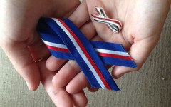 The ribbons we wore to honor the victims of 9/11 when I was in first grade.