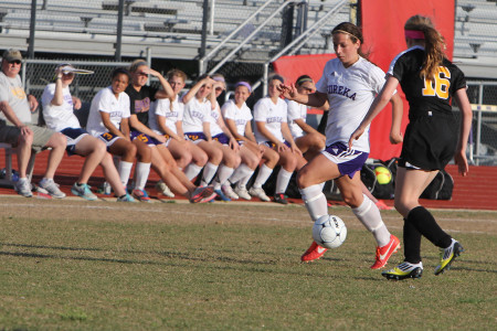 Hannah Leinert scored twice in a 5-0 victory over Oakville, April 30