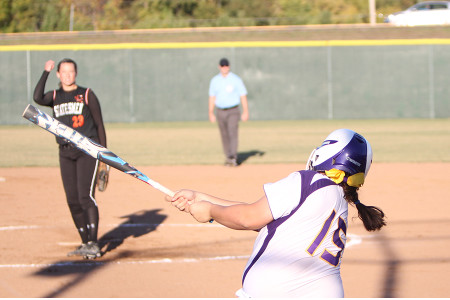 Katelyn Massa homered and drove in three runs during a sectionals game, Oct. 16.