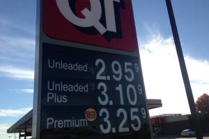 Gas prices reach a new low in month, Nov. 3. To think that $3.25 used to be the usual for unleaded...yikes!