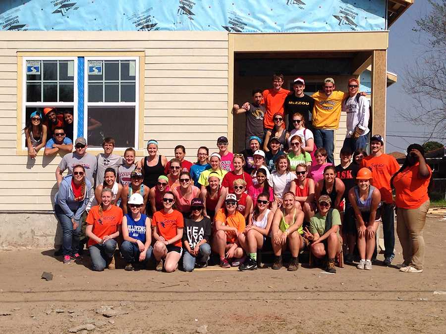 After four days on the New Orleans Habitat for Humanity work site, students could see how much progress made in such a short period of time.