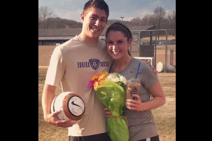 Kyle Haller asked Shannon Kupfer (12) after soccer practice, sweet and simply, which is always an option.