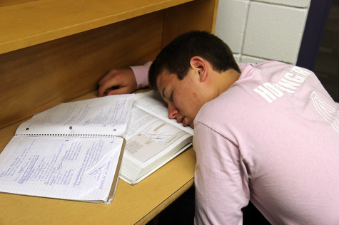 With my tiring schedule, I will eventually start falling asleep in class like Nick Hoeflinger(12).