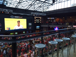 A shot of the big screen from inside Fox Sports MIdwest Live!