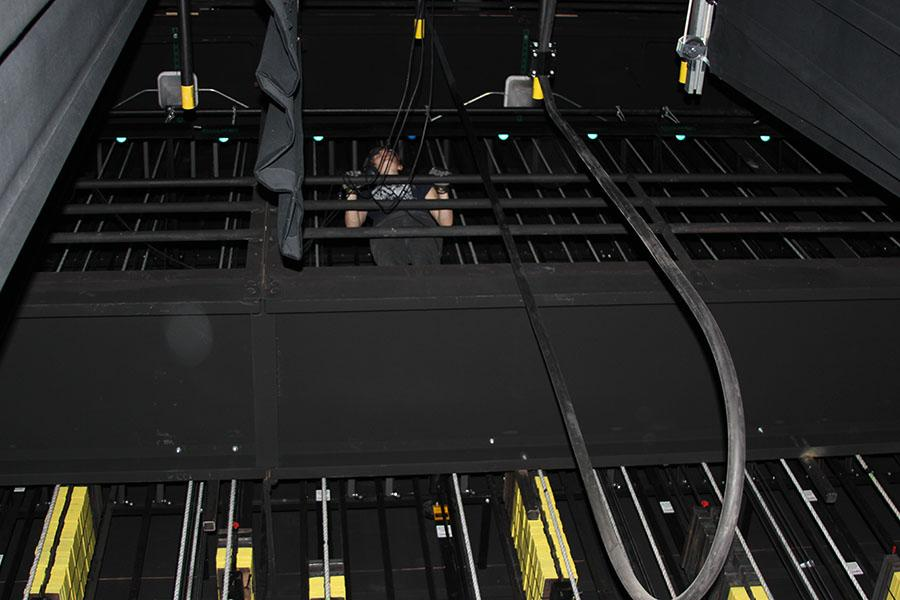 Chanel Mullen is standing in the rafters waiting for her cue, Oct. 29.