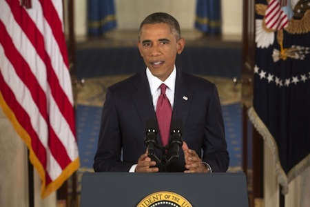 President Barack Obama proposing his ideas at the 2015 State of the Union Address.