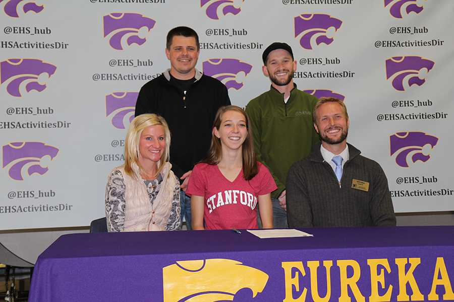 Hannah Long, cross country, signs with Stanford University, Nov. 12, 2014.