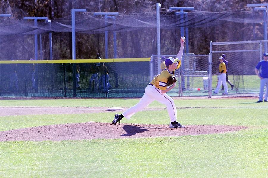 Nate Witherspoon, pitcher, against Wheaton, Illinois, March 31.