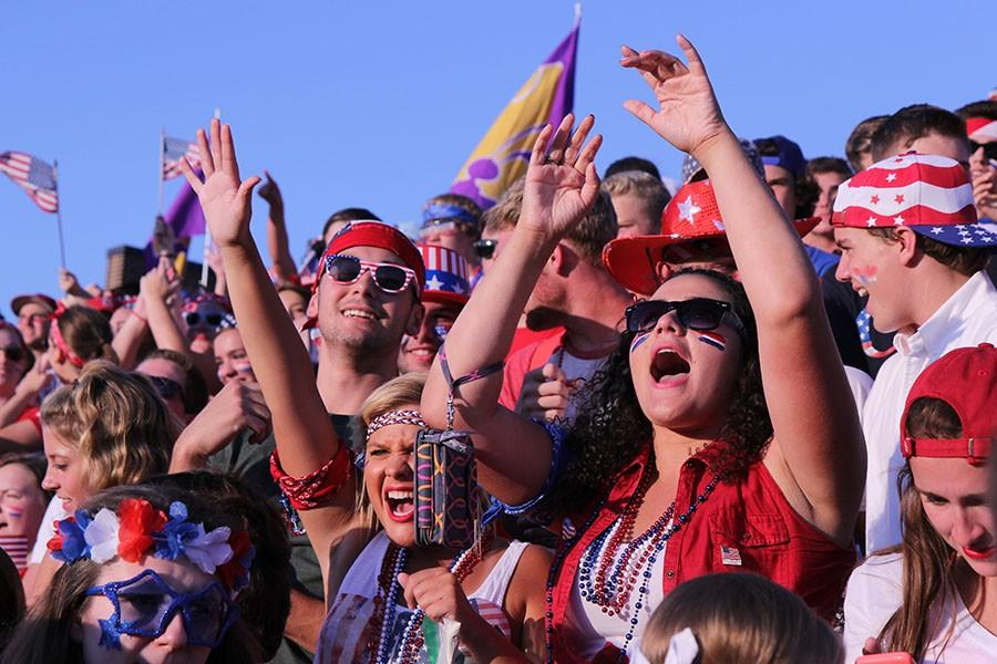 Catpound+shows+school+spirit+at+the+game+against+Lafayette%2C+Aug.+21.+StuCo+encourages+all+students+to+wear+red%2C+white+and+blue+to+honor%2C+9%2F11.
