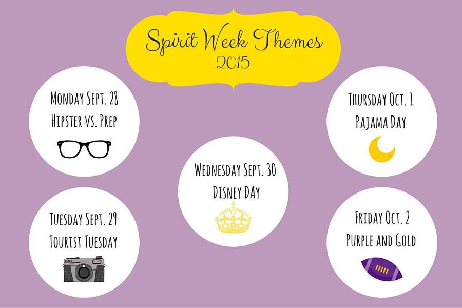 Spirit Week themes 2015