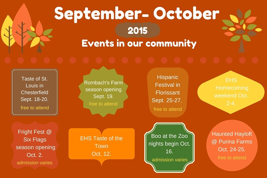 Upcoming fall events