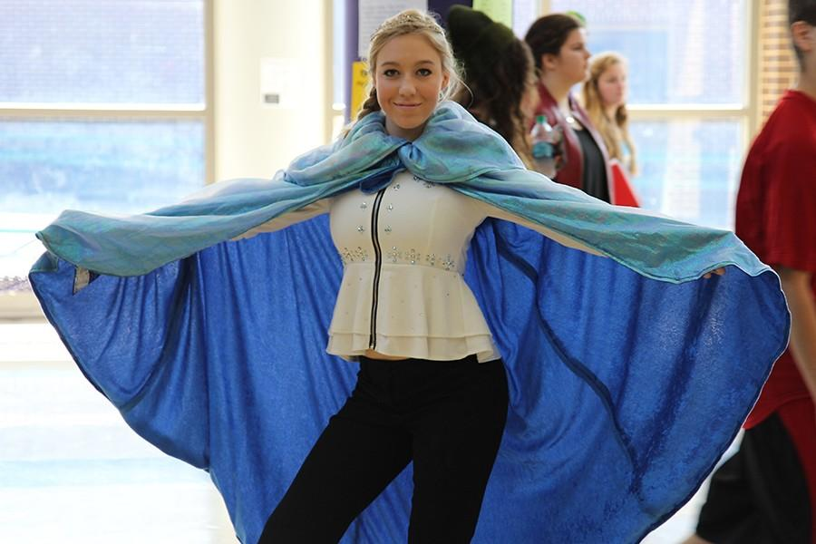 Mary K Chapman (10)  posing as Elsa from Disney's 'Frozen,' Sept. 30.