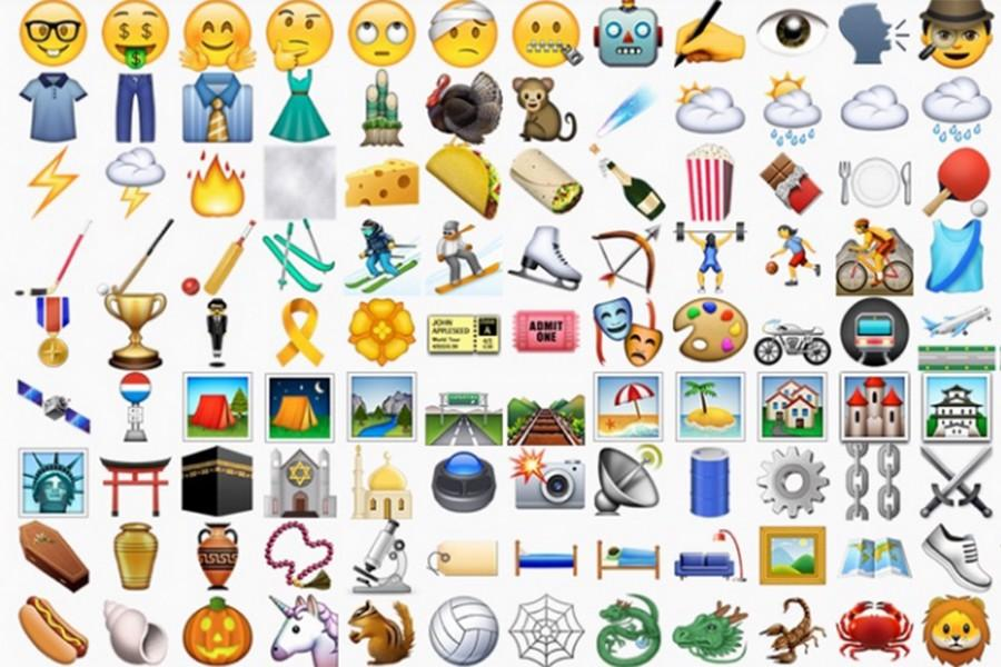 Some of the new emojis from Apple, Oct. 26.