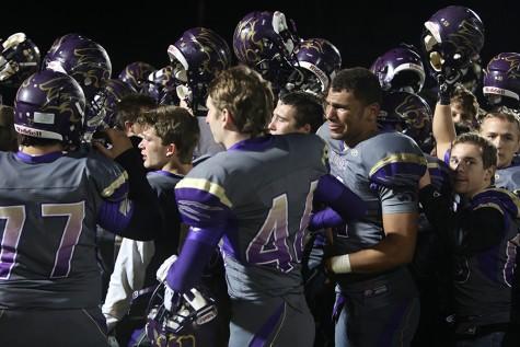 Varsity Wildcats emotional after season ending loss to Kirkwood High School, Nov. 6.