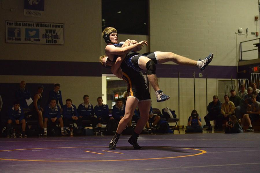 Drew McCollum (12) against Northwest High School, Jan. 28.