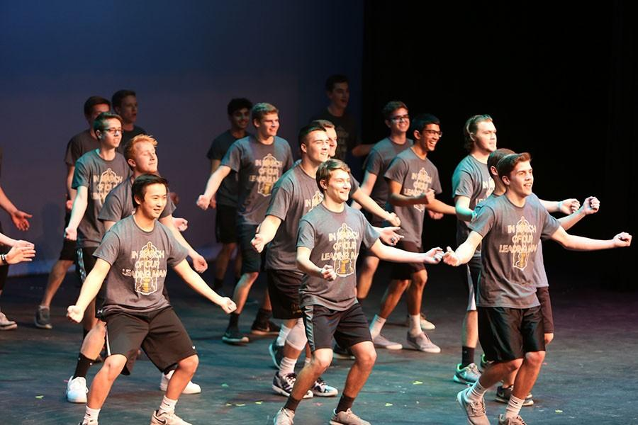 The+Mr.+EHS+contestants+perform+their+opening+dance+routine.