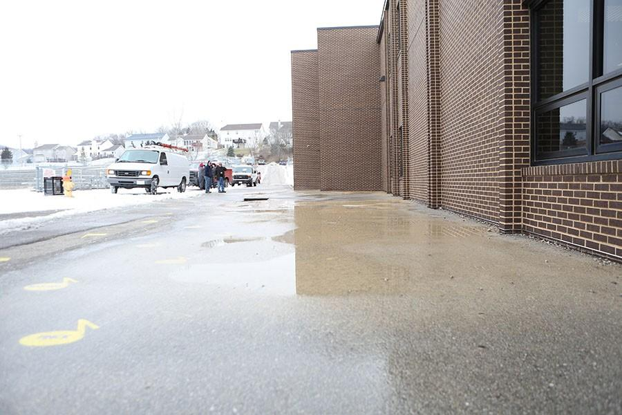 The water pipe burst, Jan. 21.