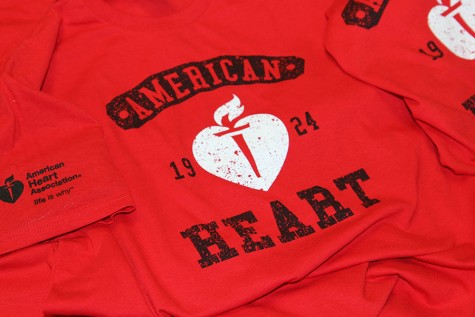 The American Heart Association fundraiser t-shirts, Feb. 4.