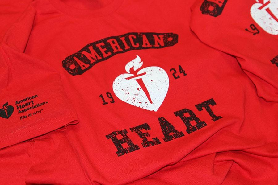 The+American+Heart+Association+fundraiser+t-shirts%2C+Feb.+4.