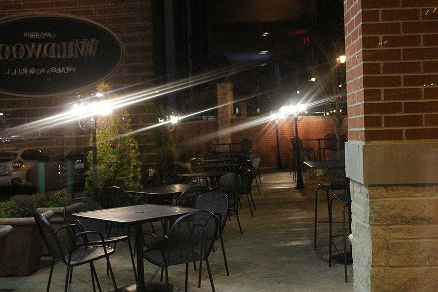 The patio of Wildwood Pub and Grill, one of the restaurants a part of the EHS academic credit card,.