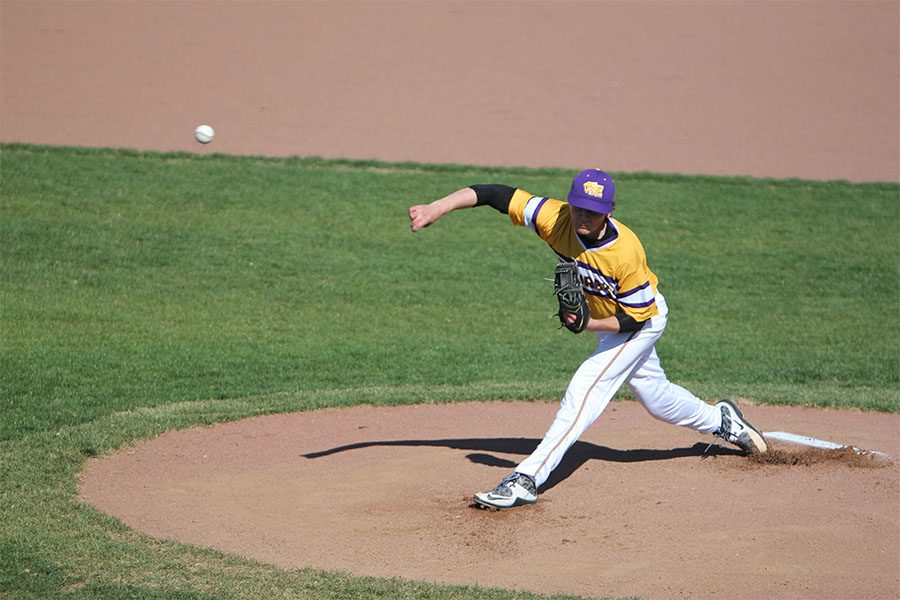 Lucas Kunkel pitched the Wildcats to victory during the game against Northwest, April 14. The Wildcats won, 4-1.