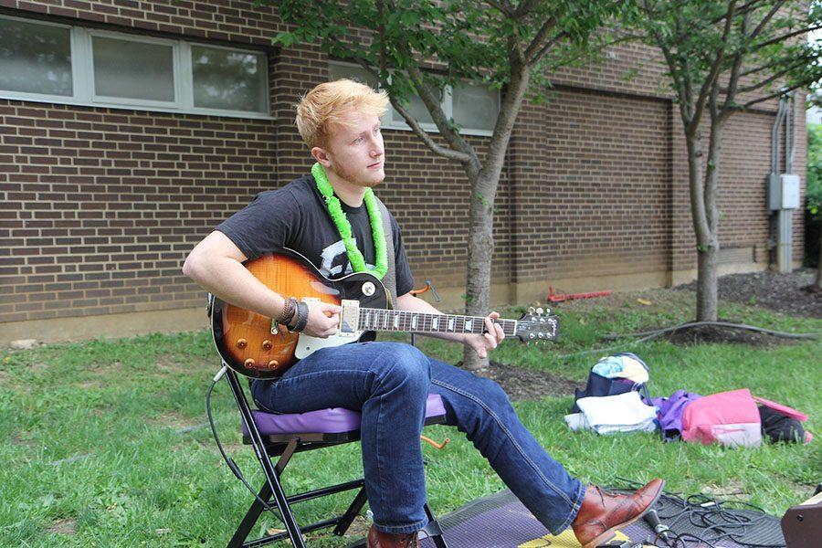 Joshua Tipton (12) provides entertainment at the carnival, 4/29.
