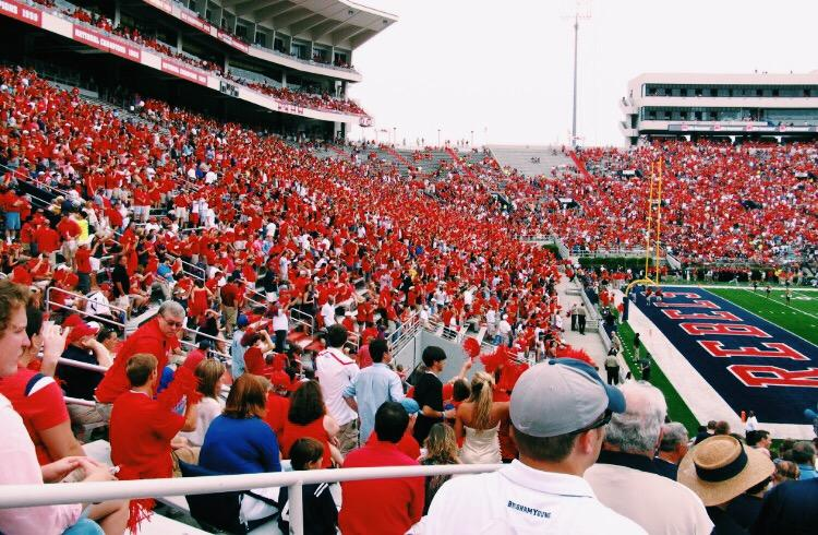 The+Ole+Miss+crowd+creates+a+sea+of+red+at+Vaught-Hemingway+Stadium+as+the+Rebels+take+on+the+LSU+Tigers+%2C+Nov.+21.+An+SEC+school%2C+the+University+of+Mississppi+touts+top+academics+and+athletics.