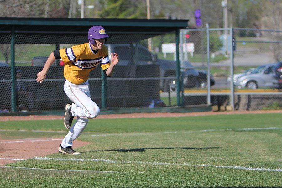 Michael Molengraft, third base, running to first base, April 14.
