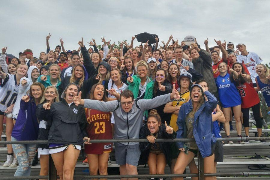 Students+crammed+into+two+sections+of+bleachers+covered+in+plastic+ponchos.+%22The+rain+was+definitely+a+factor%2C%22+Mr.+Jacob+Sumner%2C+head+coach%2C+said.+%22I+don%27t+think+it+had+a+score+on+the+overall+outcome%2C+but+it+certainly+made+an+impact.%22