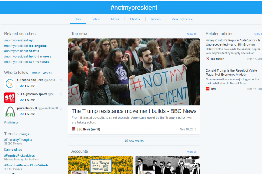 %23notmypresident+trended+this+week+on+Twitter.