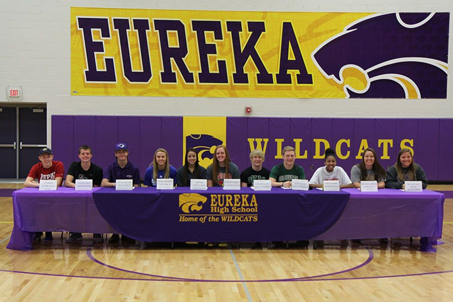 Fall athletes signed to different sports teams throughout the United States, Nov. 7.