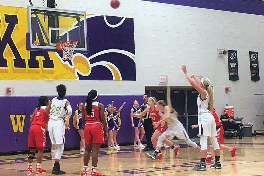 Girls varsity basketball plays Kirkwood, Feb. 21. The Wildcats lost, 49-22.