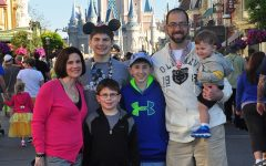 My mom, Angela Weaver, my brothers, Joey and Jack, my dad, Mike Weaver, my baby brother, TJ and I pose in front of the castle on TJ's first birthday, March 14, 2014.