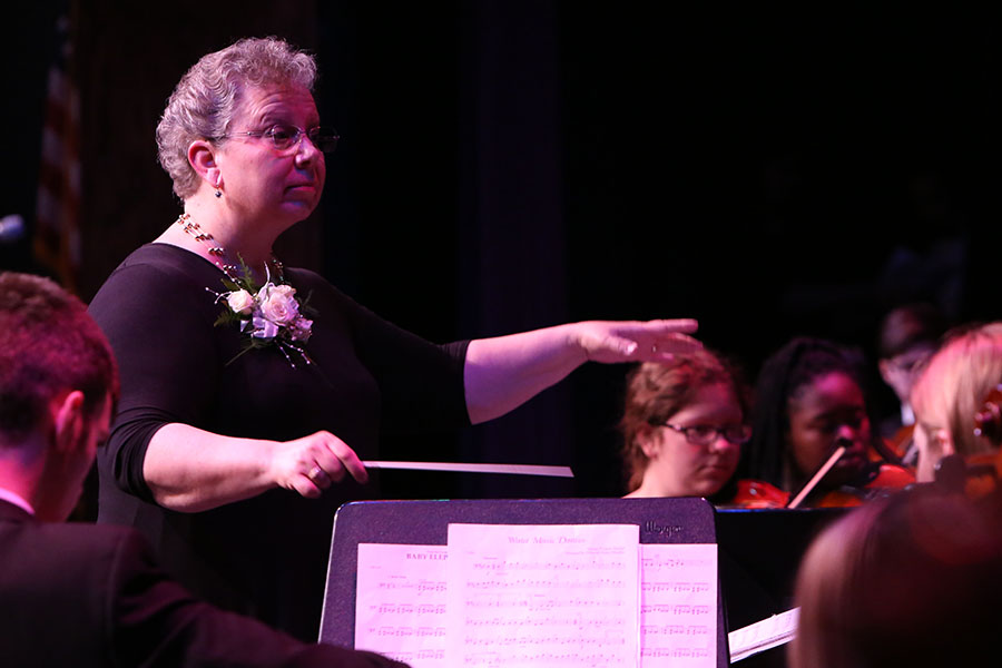 Fleer conducts her last EHS concert, April 27.