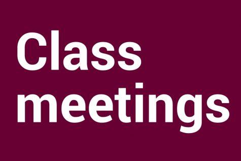 Class Meeting recap