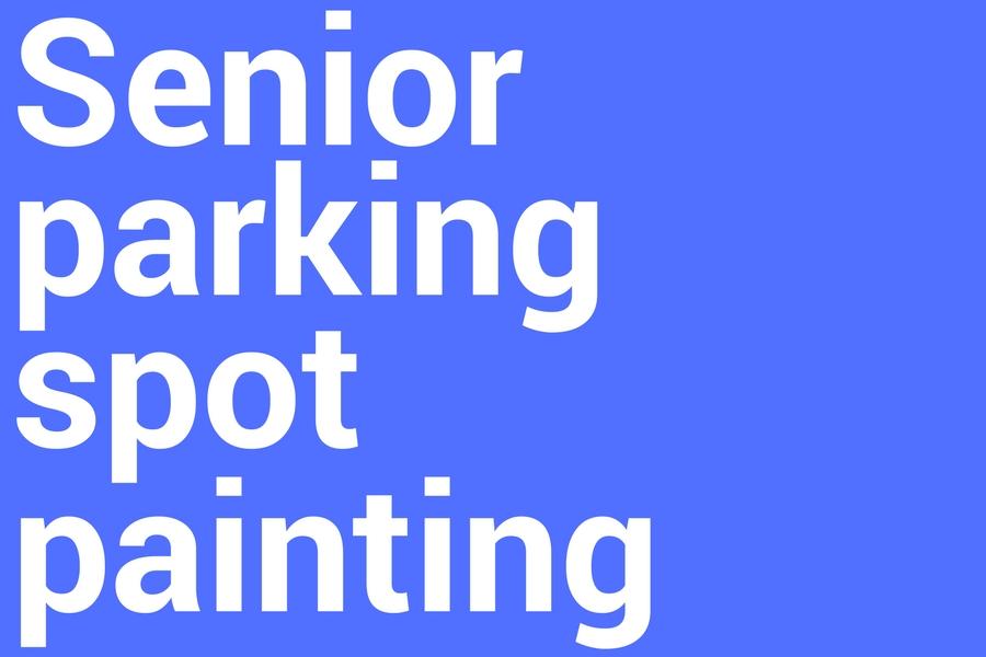 Senior+parking+spot+painting