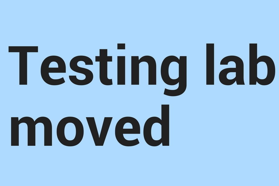 Testing lab moved