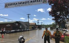 Old Towne Eureka on its second day of flooding, May 2.