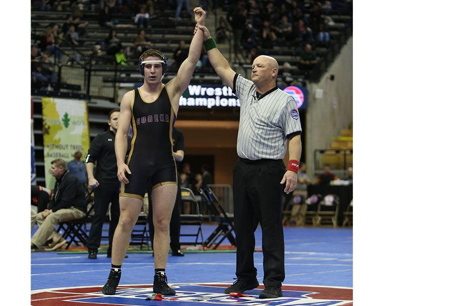Opponent+defeated%2C+Jacob+McCollum%2C+220+lbs%2C+wins+by+fall+over+Simon+Tesfamarian%2C+Park+Hill%2C+to+advance+him+to+the+second+round+of+Class+4+State+Championship+wrestlebacks+at+the+University+of+Missouri%2C+Columbia%2C+Feb.16.+%E2%80%9C+It+was+a+great+experience%2C%E2%80%9D+McCollum+said.+%E2%80%9CI+lost+my+first+match%2C+so+I+was+in+do-or-die+matches+the+whole+tournament.+I+made+it+to+the+wrestlebacks+and+was+a+win+away+from+placing%2C+so+that+was+a+bummer+when+I+lost.+I+still+had+a+blast+competing+and+seeing+the+other+studs+on+the+team+win+their+matches%2C+too.+After+wrestling%2C+we+all+went+to+eat+and+hang+out.+Those+of+us+who+aren%27t+seniors+are+already+looking+what+we+can+do+together+in+the+offseason.+I+am+going+to+go+to+a+lot+of+practices+with+my+teammates+this+spring+so+that+we+can+come+back+to+state+next+year+and+place+not+only+higher+as+individuals+but+also+as+a+team.%E2%80%9D+Kyle+Dickhaus%2C182+lbs%2C+placed+3rd%2C+Matt+Gentry%2C195+lbs%2C+took+6th%2C+and+Brendan+Carter%2C+285+lbs%2C+took+3rd.+