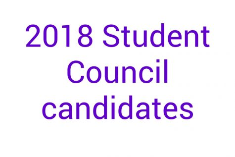 2018 Student Council candidates