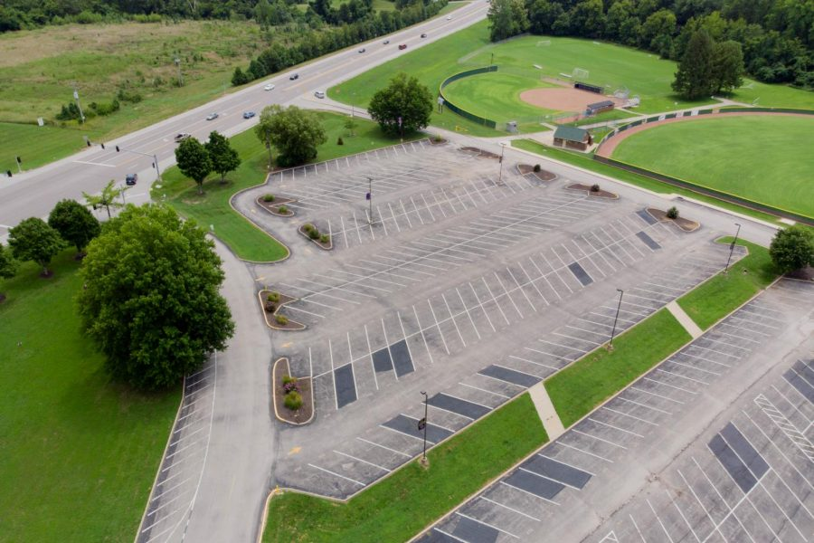 Construction will limit the size of the EHS parking lot for the 2018-2019 school year.