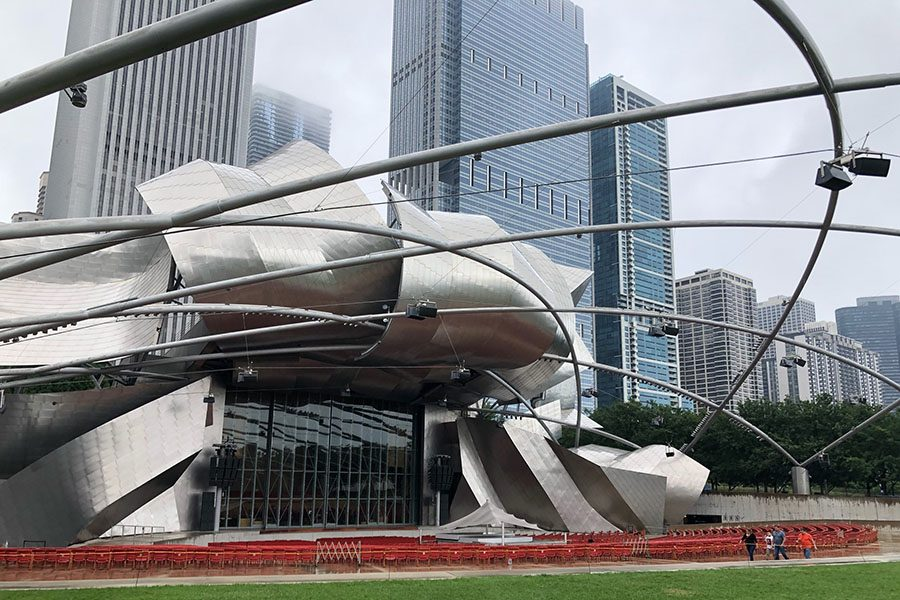 Lollapalooza brings hundreds of thousands of visitors to Chicago each year.   Millenium Park, home to this statue,  sees its fair share of visitors when Lolla comes to town.