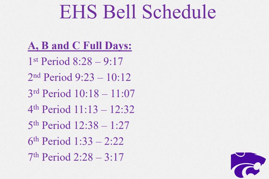 New+bell+schedule