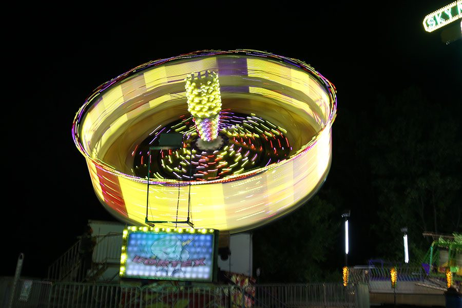 A ride spins during the carnival held in Lion's Park, Sept. 9.