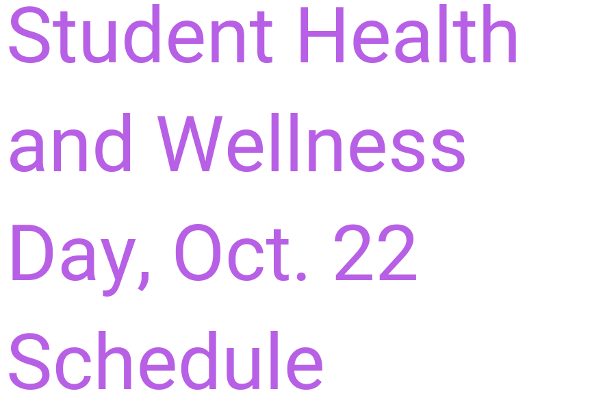 2018 Student Wellness Conference schedule