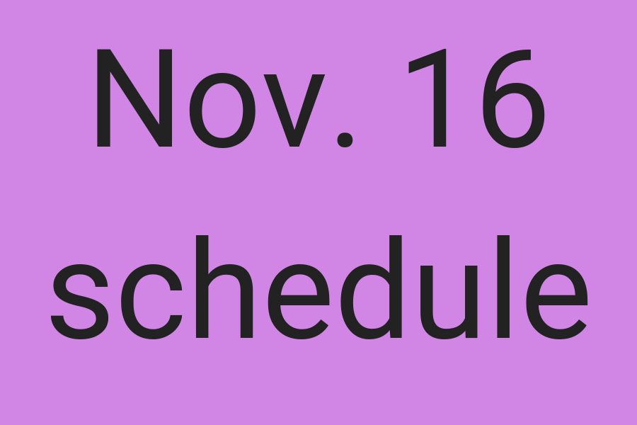 EHS will have an altered schedule, Friday, Nov. 16.