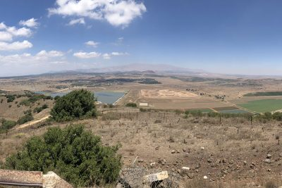 Mount Bental overlooks into Syria from Israel. Both countries have spoken out against the U.S.-Iran terrorism comments, yet each have taken different sides.