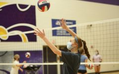 The Eureka girl's volleyball team practices Wednesday,  Sept. 2.