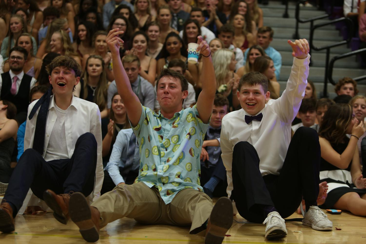 Students watch Homecoming Court during Homecoming 2019.